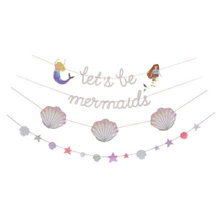 'let's be mermaids' Party Garland
